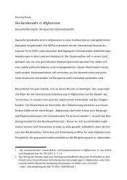 Die Bundeswehr in Afghanistan - Reader Sicherheitspolitik