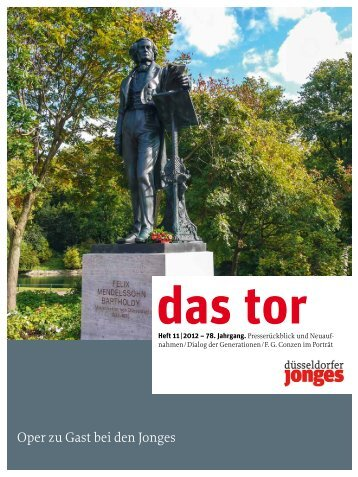 das tor - Heimatverein Düsseldorfer Jonges