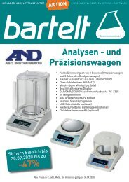 Analysen- und Präzisionswaagen von A&D
