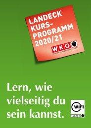 WIFI Landeck Kursprogramm 2020/21