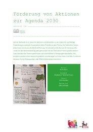 Förderung von Aktionen zur Agenda 2030