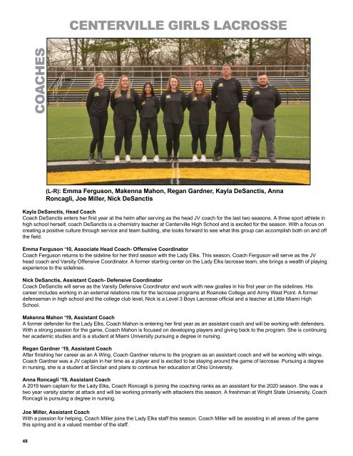 2020 Athletic Boosters - Spring Program Book