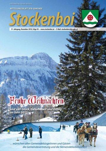Ausgabe vom Dezember 2010 - in Stockenboi!