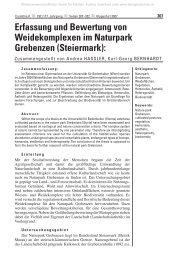 Erfassung und Bewertung von Weidekomplexen im Natur park ...