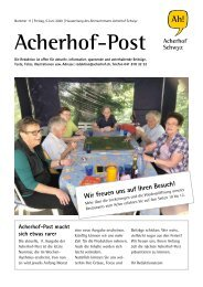 Acherhof-Post Nr. 11   5. Juni 2020