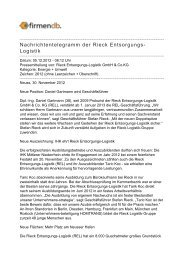 Nachrichtentelegramm der Rieck Entsorgungs-Logistik - Firmendb
