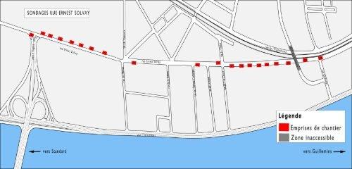 Sondages rue Ernest Solvay du 8 au 22/06