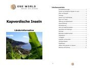 Kapverden 2012 - ONE WORLD Reisen mit Sinnen