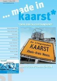 08-1543_made in kaarst.indd - wirtschaftsmagazin