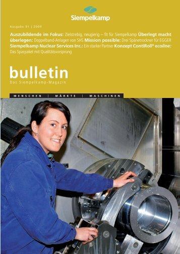 Bulletin 1/ 2009 - Siempelkamp NIS