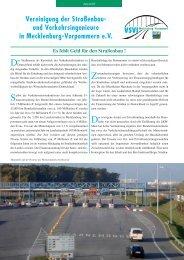 Vereinigung der Straßenbau- und Verkehrsingenieure in ... - VSVI-MV