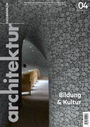 architektur Fachmagazin Ausgabe 4/2020