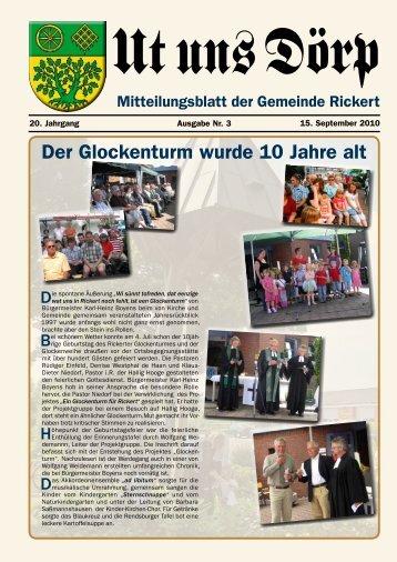 Wir gratulieren - Gemeinde Rickert