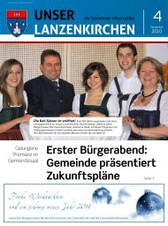 Gemeinde-Info 4/2010 - Lanzenkirchen