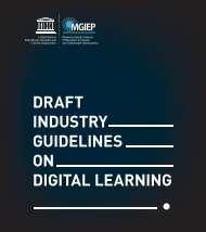 Industry Guidelines on Digital Learning: Discussion Draft