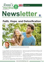 Faith, Hope, and Detoxification