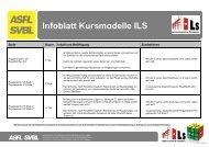 Infoblatt Kursmodelle ILS