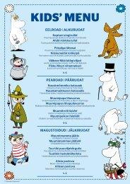 Silja Europa Kids Menu (12.06.20)