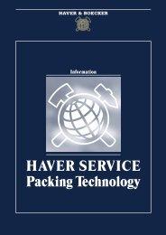 HAVER SERVICE Packing Technology - Maschinenfabrik
