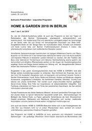 HOME & GARDEN 2010 IN BERLIN - HOME & GARDEN event - Home