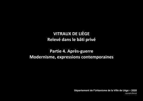 Vitraux de Liège - partie 4 - 1950-2020 - Après Guerre