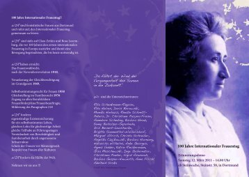100 Jahre Internationaler Frauentag - Die Linke NRW