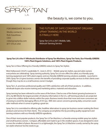 the beauty is, we come to you. - Spray Tan LA