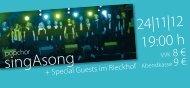 Flyer Rieckhof-Konzert - Popchor singAsong