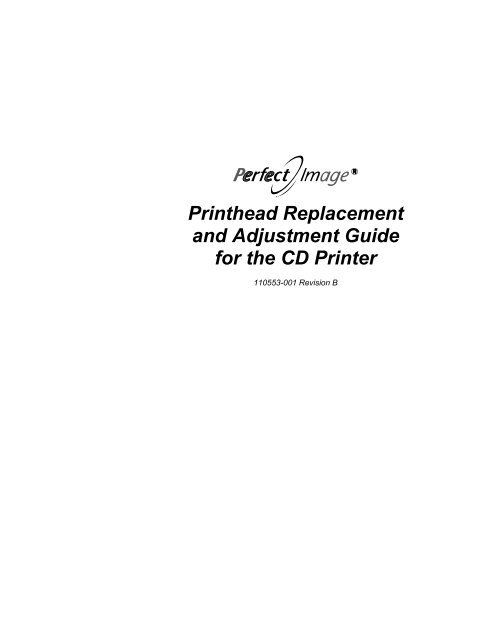 Printhead Adjustment