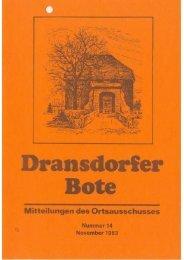 14/83 - Ortsausschuss Bonn-Dransdorf