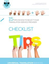 15 Tips on How to Select Your Translation Service Provider