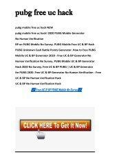 FREE PUBG Mobile UC & BP GENERATOR™ |Free PUBG UC | Free PUBG BP | FREE PUBG UC HACK 2020