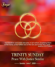 June 7, 2020 Bulletin Trinity Sunday Peace with Justice Sunday