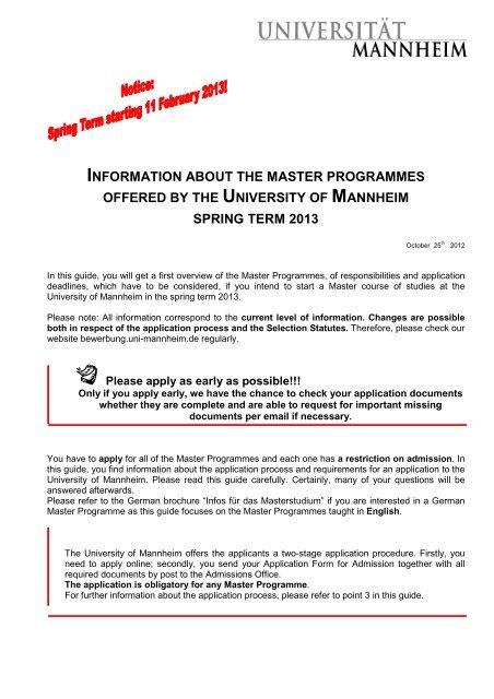 Bewerbungsanleitung Universitat Mannheim 3