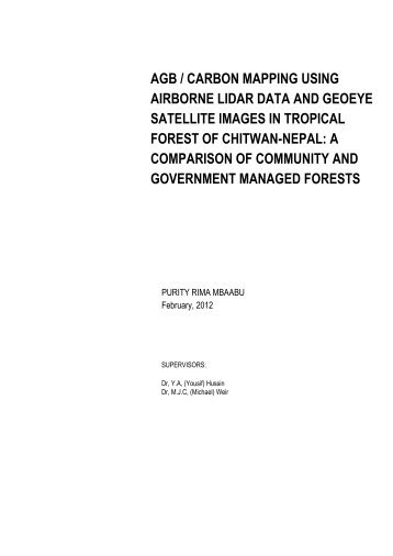 agb / carbon mapping using airborne lidar data and geoeye ... - ITC
