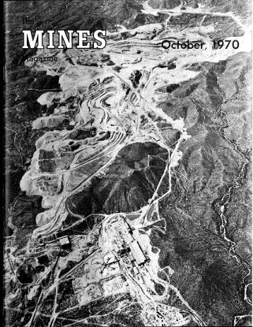 1 ^'^l^^' - Mines Magazine - Colorado School of Mines