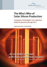 The Who's Who of Solar Silicon Production - Bernreuter Research