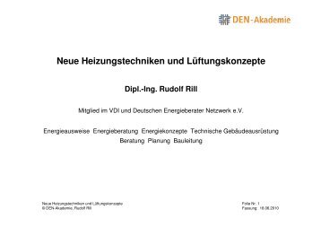 Neue Heizungstechniken und Lüftungskonzepte - Energieberatung ...