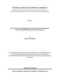 greifswalder geographische arbeiten - Ernst-Moritz-Arndt-Universität ...