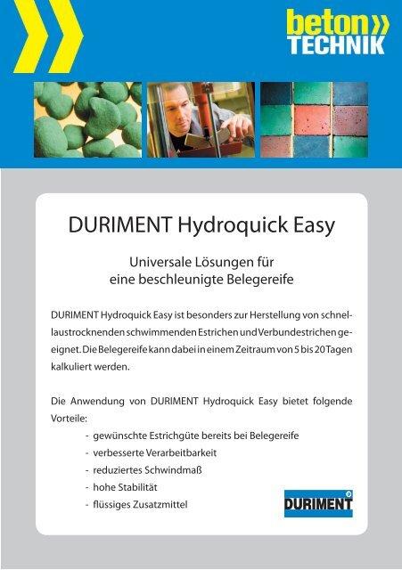 Hydroquick easy - Betontechnik