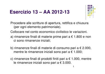 (Microsoft PowerPoint - Esercizio 13+soluzione [modalit\340 ...