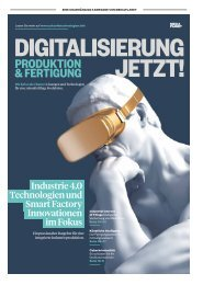 DIGITALISIERUNG JETZT! PRODUKTION & FERTIGUNG