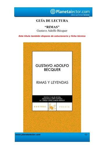 "Guía de lectura ""Rimas"""
