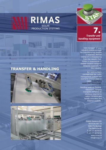 TRANSFER & HANDLING - Rimas Technology Group