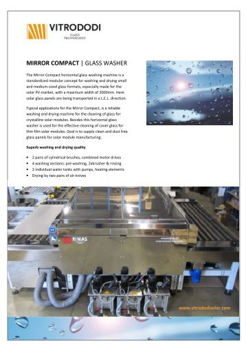 MIRROR COMPACT | GLASS WASHER - Rimas Technology Group