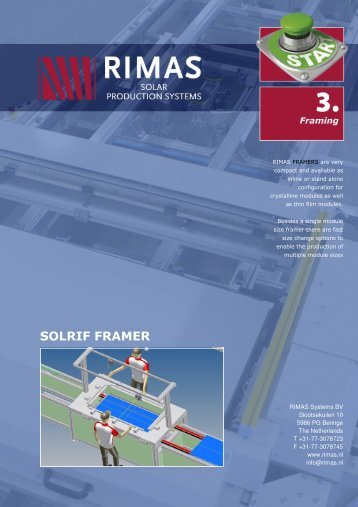 Solrif Framing - Rimas Technology Group