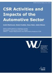 CSR Activities and Impacts of the Automotive Sector - Research ...