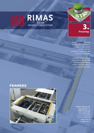 Framing - Rimas Technology Group