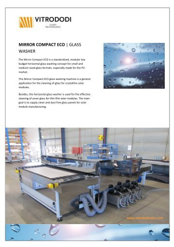 mirror compact eco | glass washer - Rimas Technology Group
