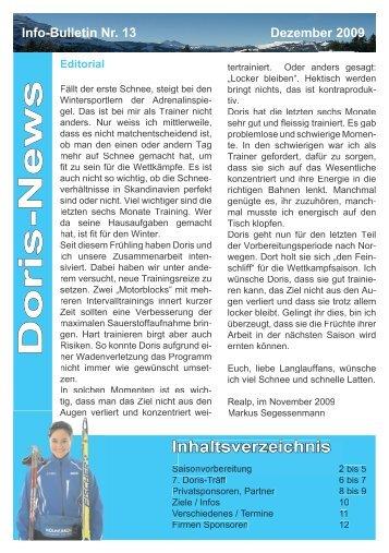 Doris-News Inhaltsverzeichnis Inhaltsverz ... - Doris Trachsel
